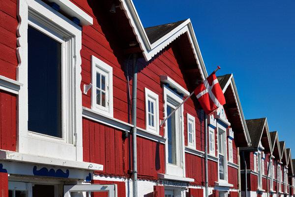 Häuserfront in Aalborg