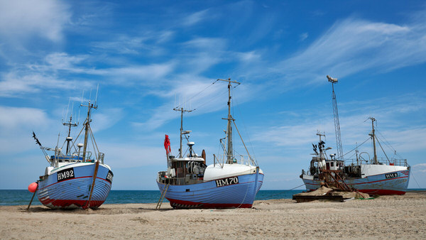 Fischerboote am Strand von Thorup