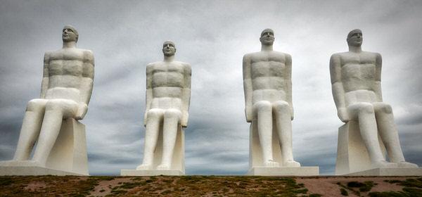 """Skulptur """"Der Mensch am Meer"""" in Esbjerg"""
