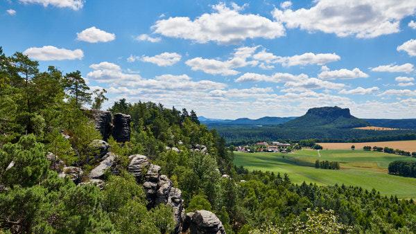 Blick vom Rauenstein auf den Lilienstein