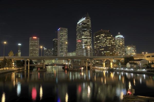 Skyline Tampa Nacht (HDR)