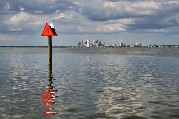 Blick auf Tampa, Ballast Point