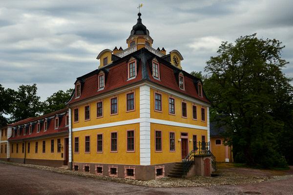 Das Bachhaus (Kavalierhaus) des Schlosses Belvedere in Erfurt