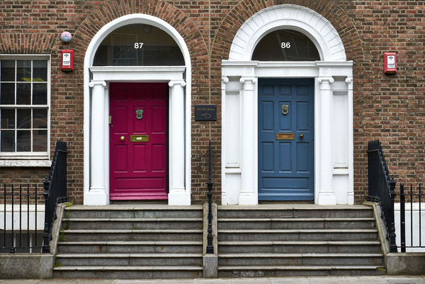 Typische Häuserfront in Dublin