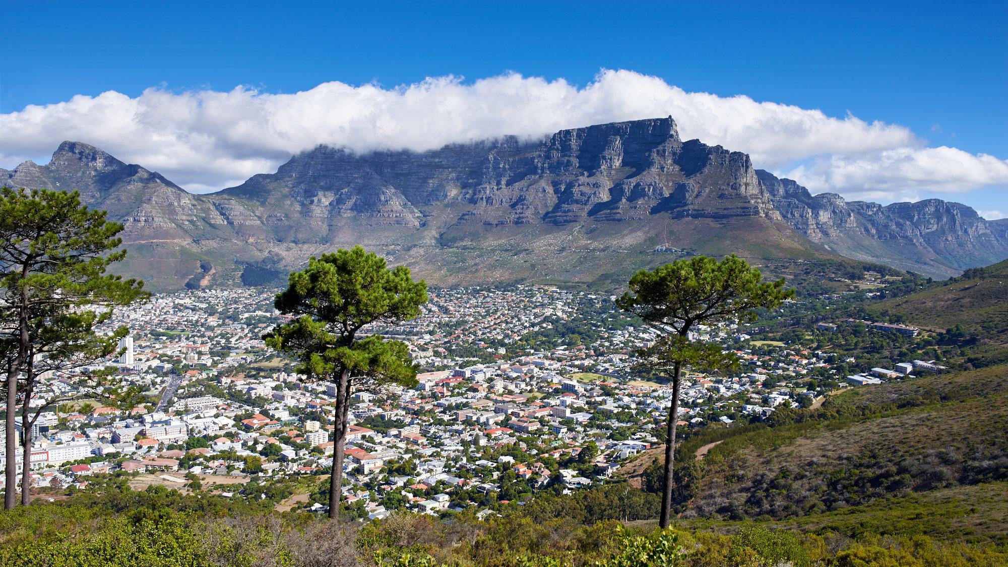 Blick vom Signal Hill auf den Tafelberg