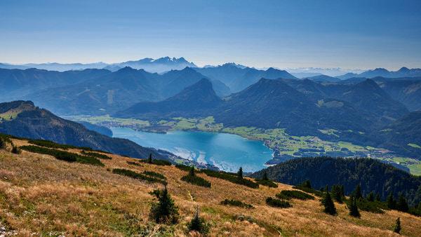 Blick vom Schafberg auf den Wolfgangsee