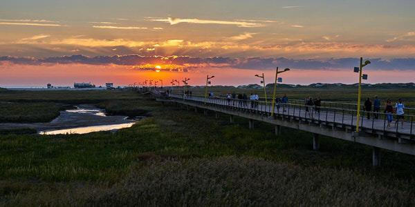 Sonnenuntergang an der Seebrücke St. Peter-Ording