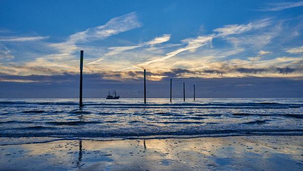 Krabbenkutter Höhe Strandbar 54° Nord