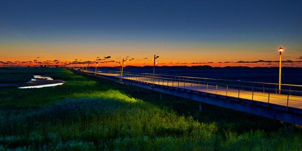 Seebrücke St. Peter-Ording im Abendlicht