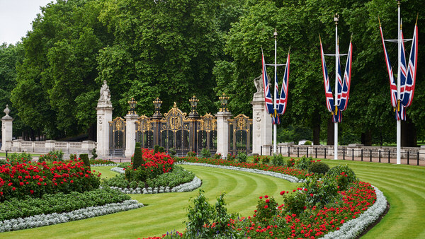 Tor zum Green Park in der Nähe Buckingham Palace