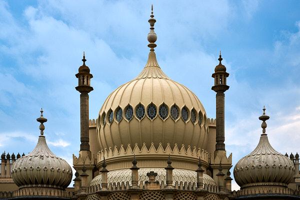 Die Zwiebel-Türme des Royal Pavilion in Brighton