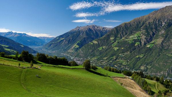 Blick von Aschbach in Richtung Westen
