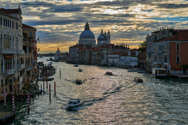 """Blick vom """"Ponte dell Accademia"""" auf die Basilica """"Santa Maria della Salute"""""""