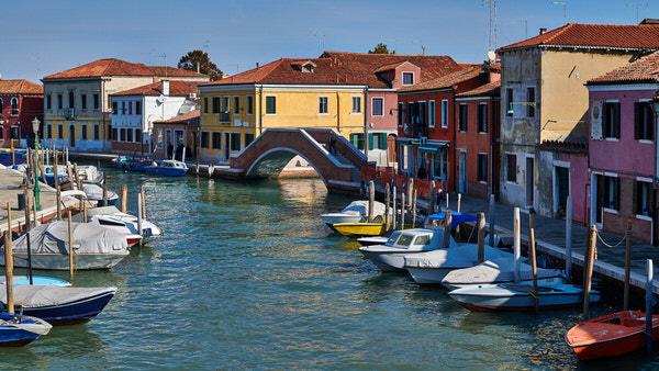 Ansicht auf der Insel Murano